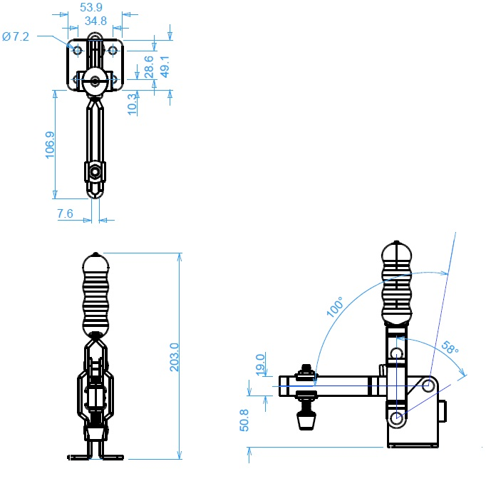 Toggle Clamp - Slotted Arm 2